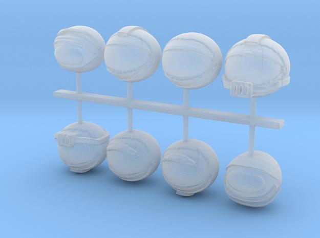 SpaceHelmet SET in Smoothest Fine Detail Plastic