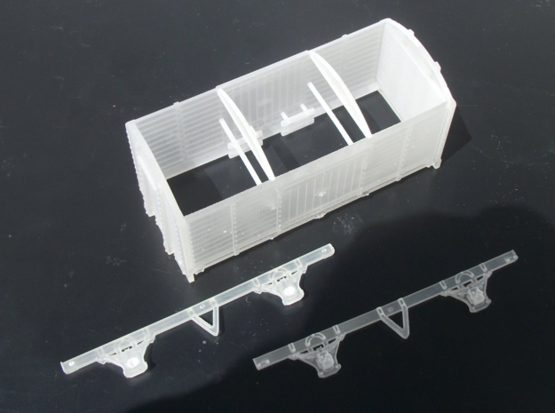 HO Scale LBSCR 8 ton Covered Goods Wagon  in White Natural Versatile Plastic