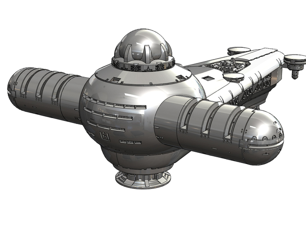 150mm Harkonnen Frigate (Dune 1984) in White Natural Versatile Plastic