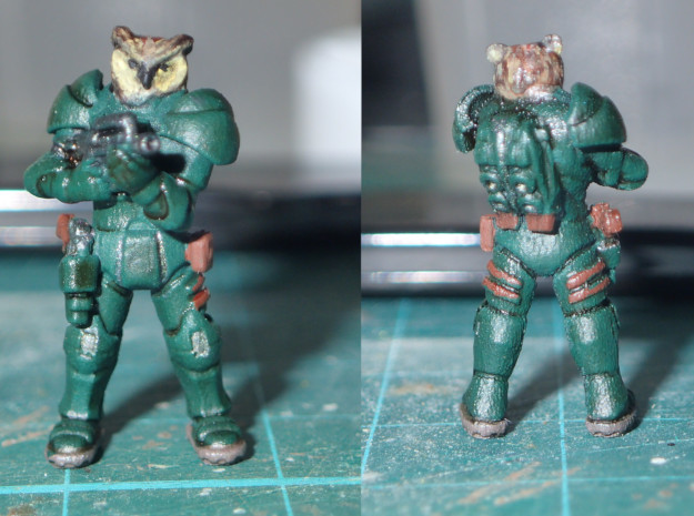 Space Owl Warrior in Smooth Fine Detail Plastic: 1:87 - HO