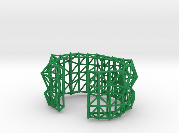 Faceted Cuff in X-Small 3d printed