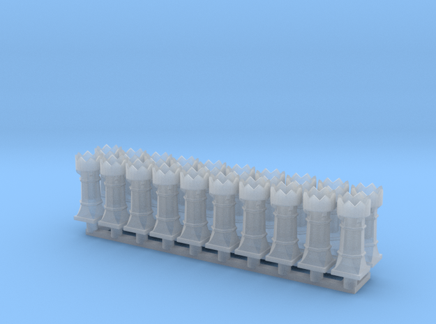chimney queen group in Smooth Fine Detail Plastic