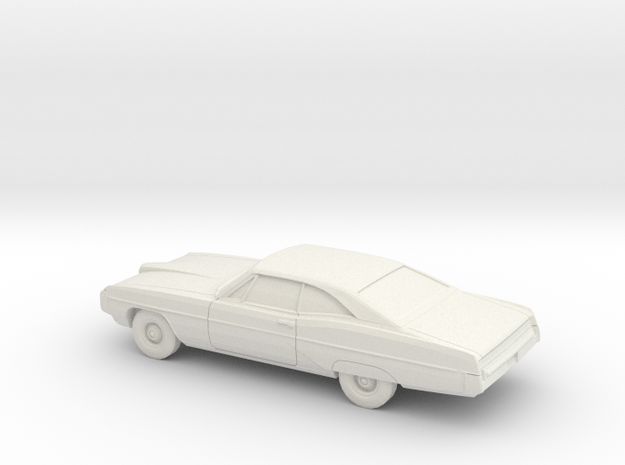1/80 1968 Pontiac Bonneville Coupe in White Natural Versatile Plastic