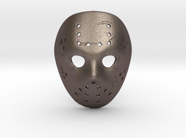 GHOST Jason Pendant ⛧ VIL ⛧ in Polished Bronzed-Silver Steel