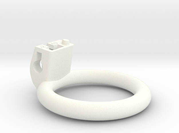 Cherry Keeper Ring - 40mm Flat +2° in White Processed Versatile Plastic