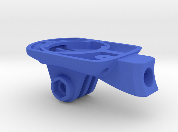 Wahoo Elemnt Bolt GoPro Easton ICM Mount in Blue Processed Versatile Plastic