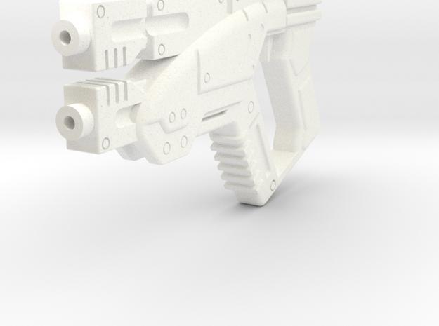 1/6 M3 Predator- Mass Effect Gun in White Strong & Flexible Polished