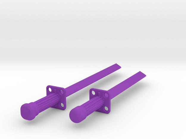 Ninja Sword Set in Purple Processed Versatile Plastic