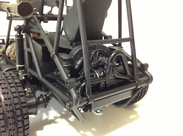 FA10001 Engine for Tamiya Wild One, FAV 3d printed Engine painted with Military exhaust