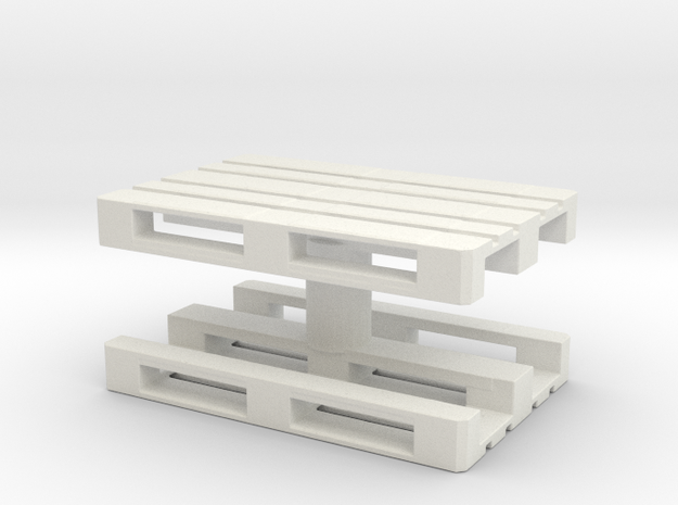 Euro Pallet (x2) 1/35 in White Natural Versatile Plastic