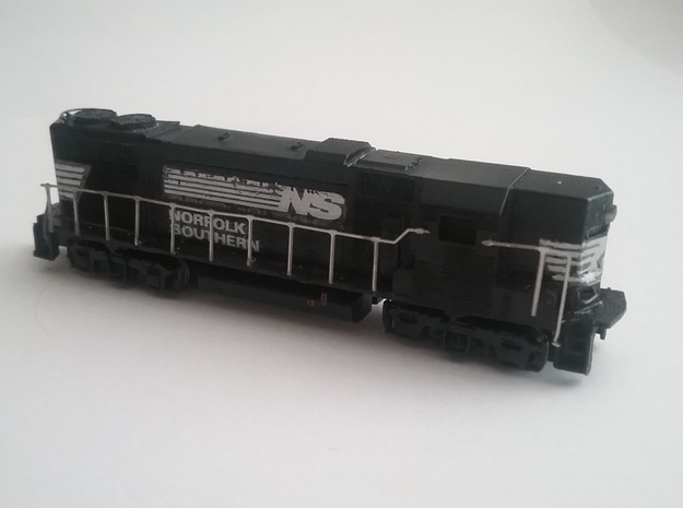Z Scale High Nose Gp 38 With Cab in Smoothest Fine Detail Plastic