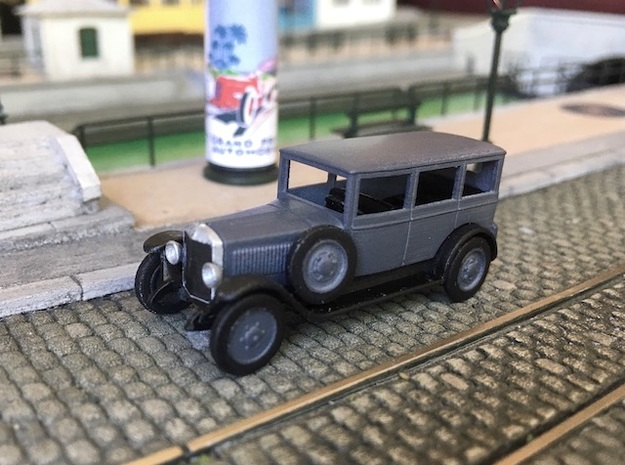 1:87 Ho Unic L2 Berline 1924 in Smooth Fine Detail Plastic