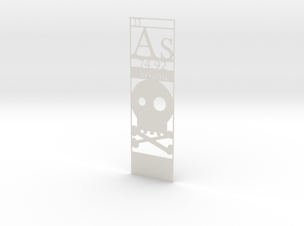 Elemental Bookmark - Arsenic customization 3d printed