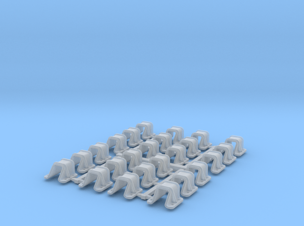 Flat car Stake Pockets -  in Smooth Fine Detail Plastic