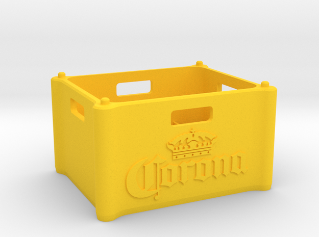 """Beer Crate """"Corona"""" 1:10 in Yellow Processed Versatile Plastic: 1:10"""