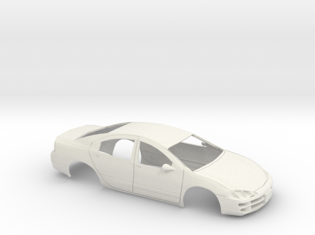 1/24 1999 Dodge Intrpide Shell in White Natural Versatile Plastic