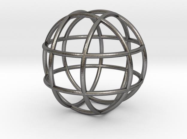 0848 Sphere F(x,y,z)=a #001 in Polished Nickel Steel