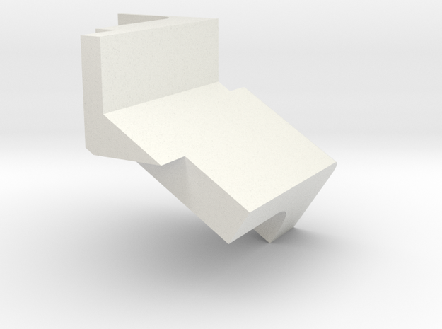 DetectionPathHeatShield_bottom in White Natural Versatile Plastic