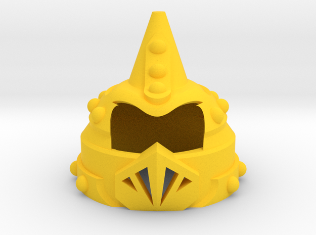 Prince Algor's Helm  in Yellow Processed Versatile Plastic