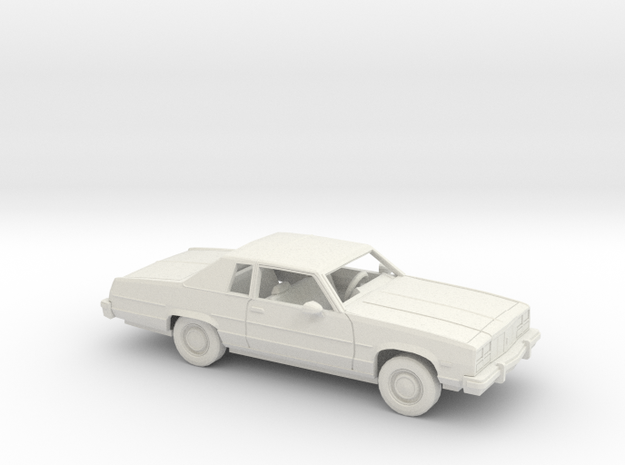 1/25 1977 Oldsmobile Delta 88 Coupe Kit in White Natural Versatile Plastic
