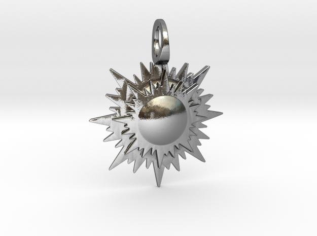 """doppio sole"" pendant 3d printed"