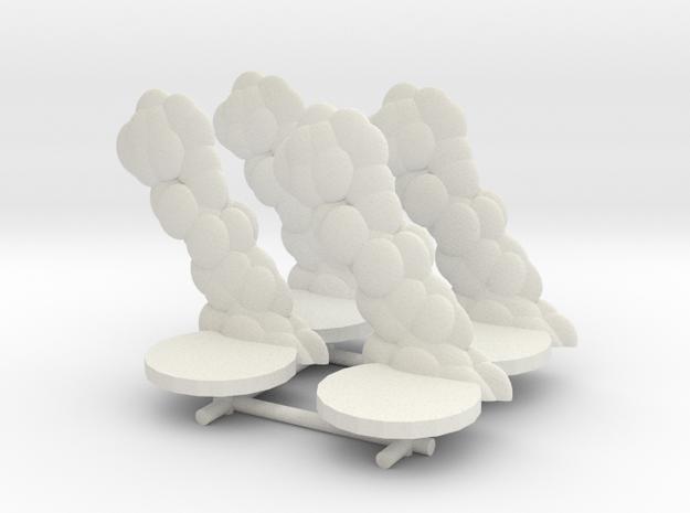 Smoke cloud Damage Marker (x4) in White Natural Versatile Plastic