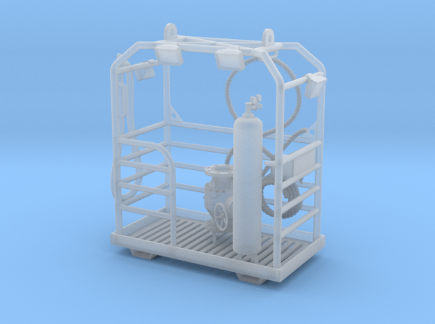 work basket for divers in Smooth Fine Detail Plastic: 1:75