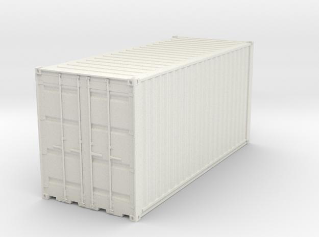 Container 20ft in White Natural Versatile Plastic: 1:75