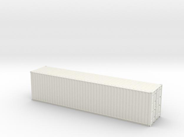 Container 40ft in White Natural Versatile Plastic: 1:75