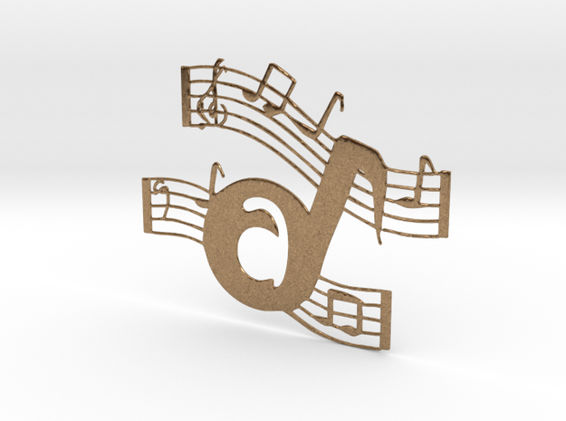 Musical Font A in Natural Brass