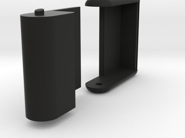 "Folding card holder for 2.25"" square cards (20 car in Black Natural Versatile Plastic"