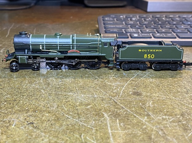 Lord Nelson Tender Plate N Gauge in Natural Brass
