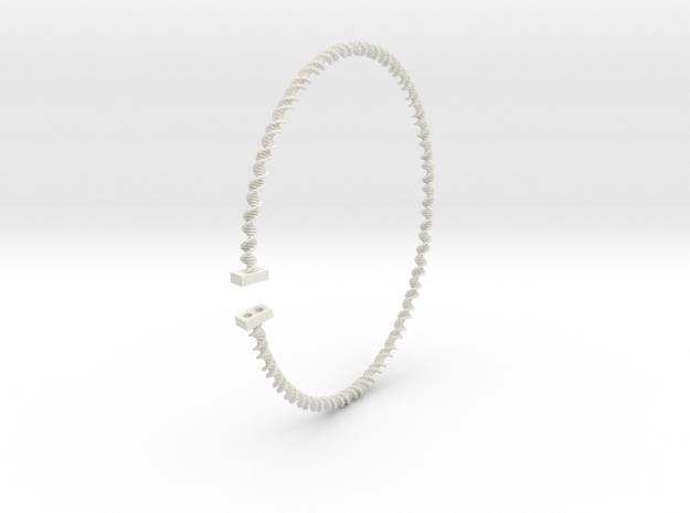 Flexible DNA double helix in White Natural Versatile Plastic
