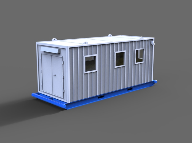Office container in White Natural Versatile Plastic: 1:75