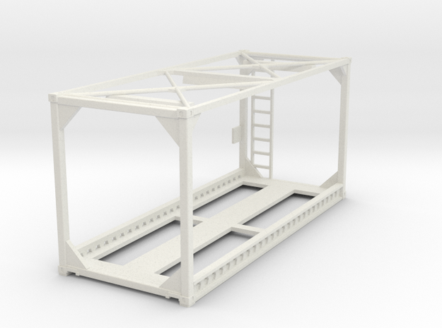 Container Frame 20ft  in White Natural Versatile Plastic: 1:75