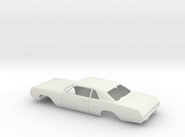 1/25 1971-72 Dodge Polara Coupe Shell in White Natural Versatile Plastic