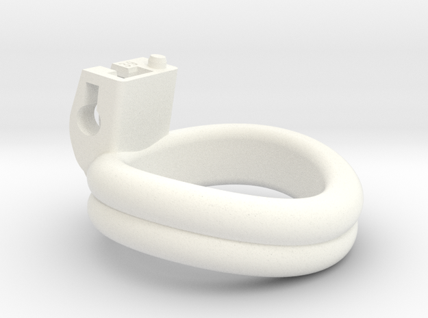 Cherry Keeper Ring - 39mm Double in White Processed Versatile Plastic