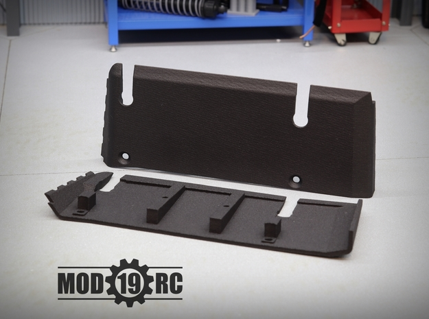 SCX10 III Flat Bottom Skid Plate Right in Black PA12