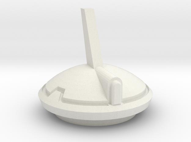 Sci fi hovertank Hatch in White Natural Versatile Plastic