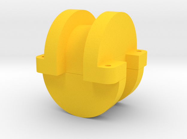 20200727CGWithF360BasePlate v1.stl Cushion Guide  in Yellow Processed Versatile Plastic