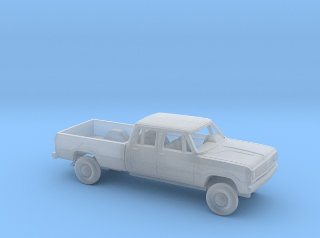 1/87 1972 Dodge D-Series Crew Cab Long Bed Kit in Smooth Fine Detail Plastic