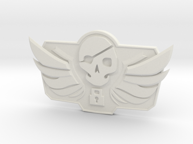 1/3 McCree Blackwatch Belt Emblem in White Natural Versatile Plastic