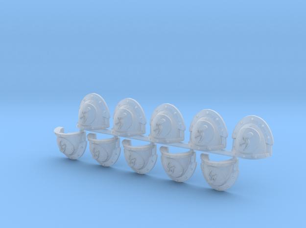 Death Wolves Mk3.7 shoulder pads x10 L #1 in Smooth Fine Detail Plastic
