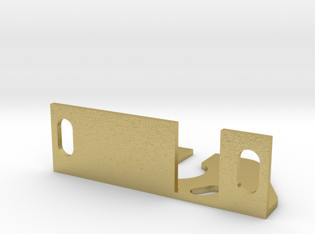 S Scale Motor Mount A for RS11 and River Raisin E8 in Natural Brass