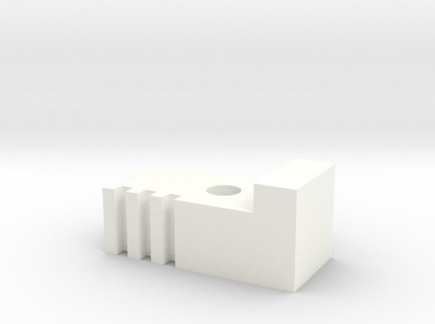 BottomrodblocksLeft in White Processed Versatile Plastic