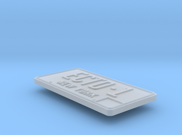 Eaglemoss Ecto-1 License Plate in Smooth Fine Detail Plastic