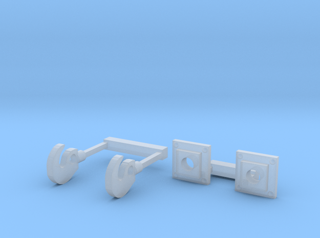 OO Scale Hooks and Bases in Smoothest Fine Detail Plastic