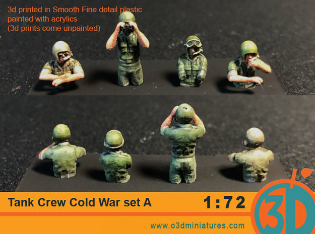 Tank Crew Cold War Set A 1/72 scale in Smooth Fine Detail Plastic