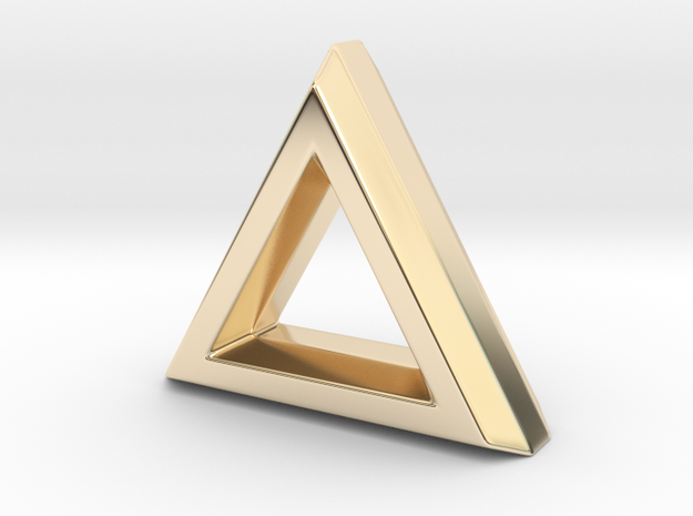 CHISEL_Triangle_Updated_v01 in 14K Yellow Gold