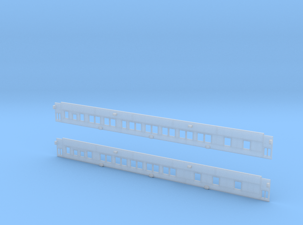 Pullman 10-1-1 Sleeper (Plan 3973C) - Car Sides in Smooth Fine Detail Plastic